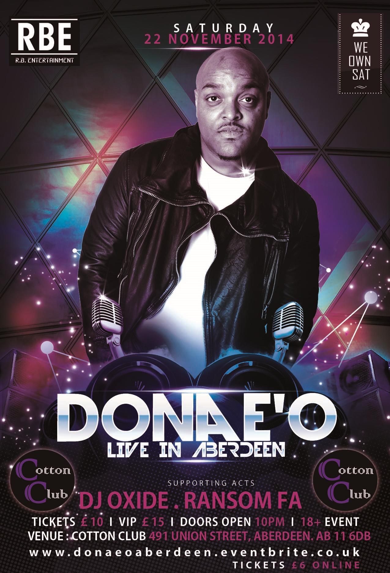 DONAE'O LIVE IN ABERDEEN
