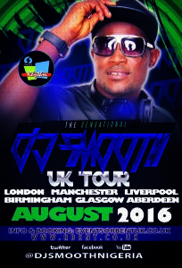DJ Smooth Tour Concert Music Flyer
