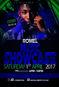Romel Music showcase Flyer ACts