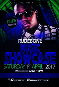 Rudebone Music showcase Flyer ACts