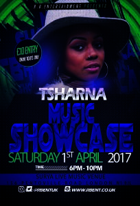 Tsharna Music showcase Flyer ACts
